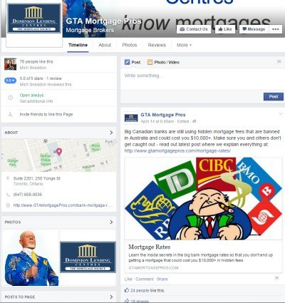 Whitby Mortgage Agent Facebook Page