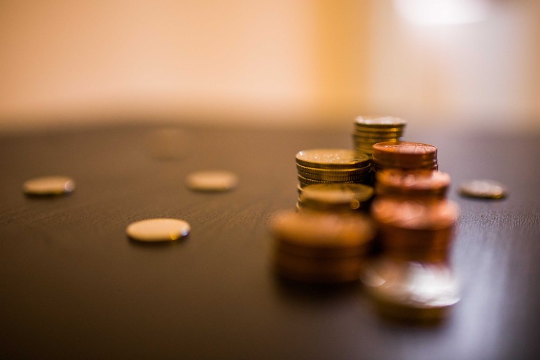Several Stacks Of Coins