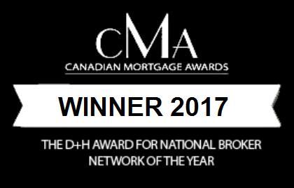 Canadian Mortgage Awards Winner 2017 - National Brokerage Of The Year